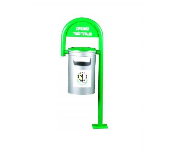 (B 109) Baston Tipi Sabit Dış Mekan Çöp Kovası