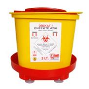3 Litre Enfekte Atık Kovası (Sabitleştiricili)
