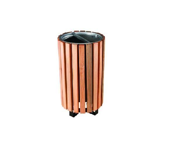 (B 137) Ahşap Kaplamalı Dış Mekan Çöp Kovası